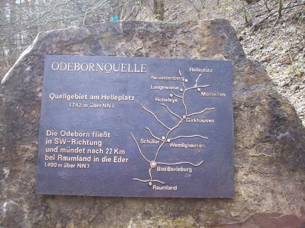 Der Ursprung eines weiteren Flüsschens, der Odeborn.