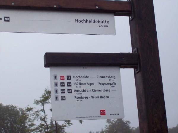 Zuerst  ging es in Richtung Clemensberg