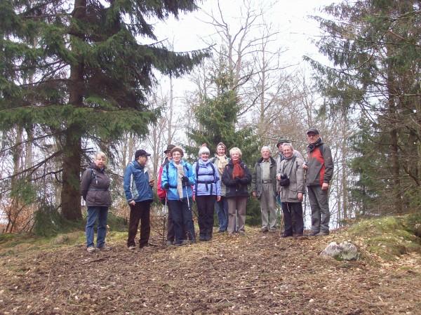 Gruppenbild der Wanderfreunde