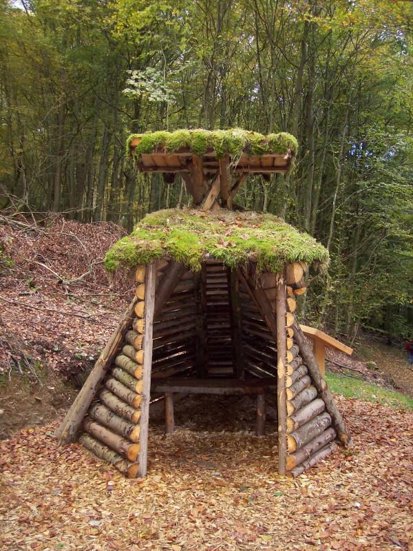 Die zum Meiler zugehörige Köhlerhütte