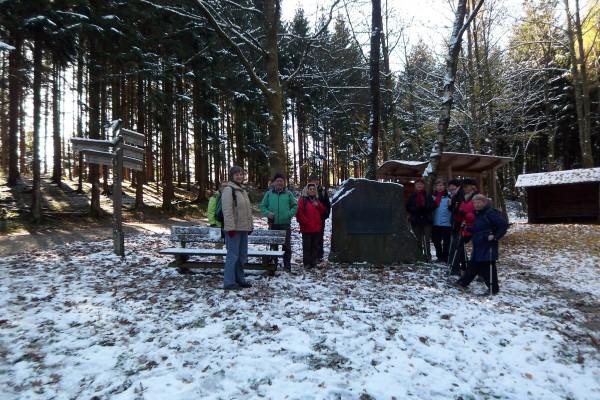 Erster Schnee bei einer Wanderung im Herbst 2012