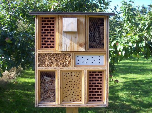 In der wundervollen Natur war auch an ein Insekten-Hotel gedacht