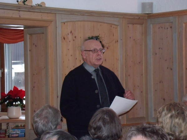 Der Vorsitzende Herr Hild, begrüßt die Gäste auf das herzlichste