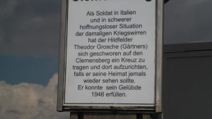 Geschichte zur Entstehung des Gipfelkreuzes