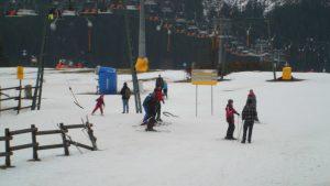 Die Unentwegten fahren bei jeder Witterung Ski