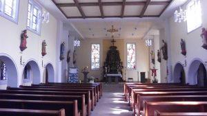 Besuch in der Kirche in Westfeld