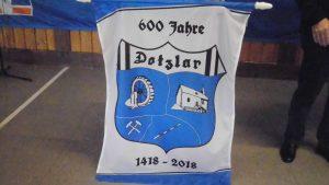 Das Wappen, gestaltet zur 600 Jahrfeier war überall in Dotzlar zu sehen