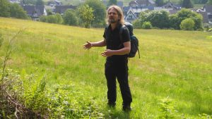 Wanderführer Frank Fischer, der Initiator des Weges