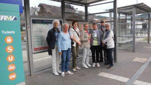 Erwartungsvoll am Bahnhof Wallau, denn gleich gings los